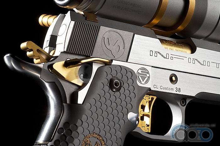 пистолет. вид с зади