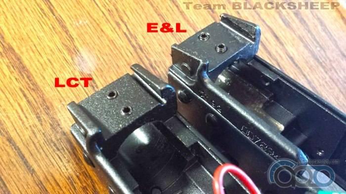 крепление внешнего ствола АК E&L vs LCT