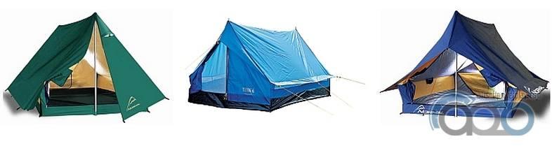двухскатные палатки с тентом