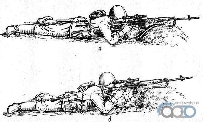 стрельба лежа с упором